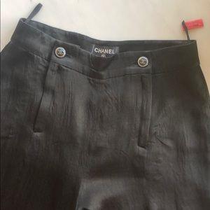 Chanel Black Wide Leg Pants SZ36